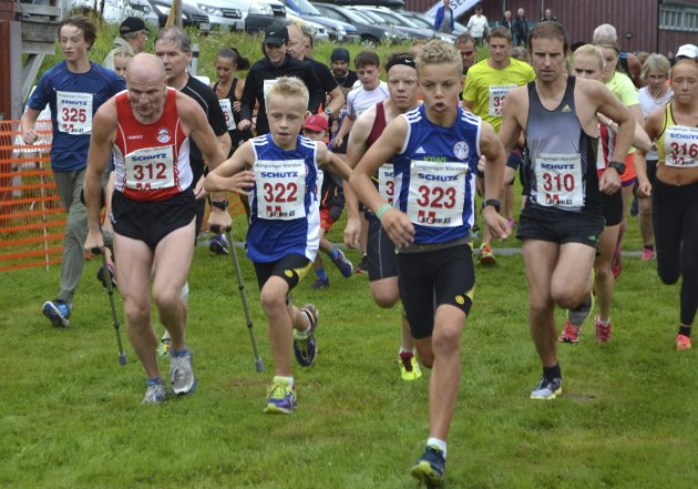Minimaraton: Stort felt også under minimaraton løpet. Foto: Pål-Erik Berntsen