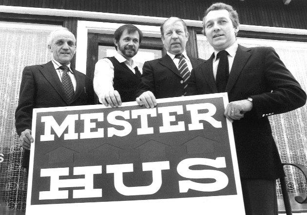 Mesterhus, Moss. Reidar Andersen, Reidar Onsaker, Roar Mikarlsen og Sten Onstad, 1982.