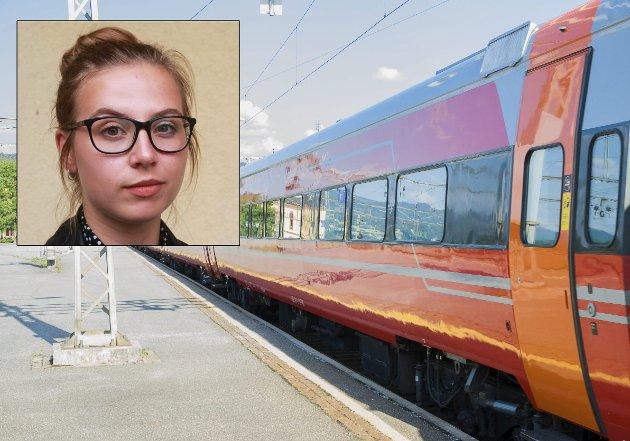 Karin Glesne bryr seg om at Ringeriksbanen kommer. Men først og fremst bryr hun seg om miljøet.