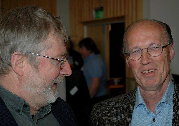 FUSJON: Styreleder Ole Th. Holth i Glommen (t.v.) og styreleder Terje Uggen i Mjøsen håper på flertall for en fusjon på et ekstra årsmøte i juni.