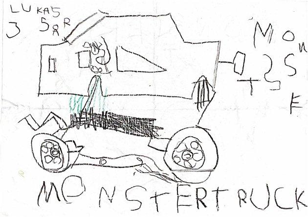 MONSTERTRUCK: Lukas på 5 år gjør det tydelig hva han ønsker seg.