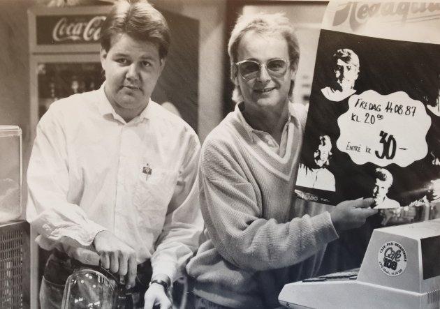 Cafe 108 «gjenoppstår» i august 1987 - Roy Olsen og Arnfinn Mathisen.