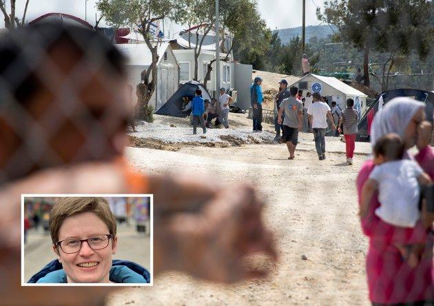 - Kommunen må be regjeringen svare positivt på henvendelsen fra Hellas om å ta mot enslige mindreårige fra flyktningeleirene, skriver Eva Marie Meling Mathisen (Rødt). (Foto: Scanpix)