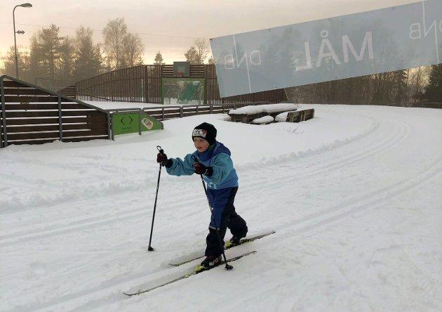 I MÅL:Marius Bjørklund følte seg sterk også etter målgang.
