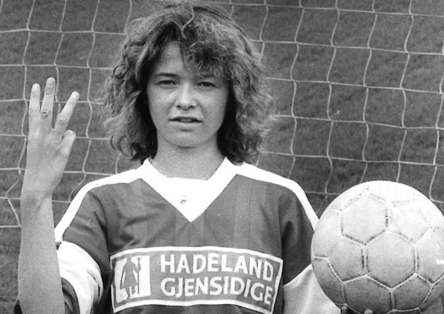 MÅLTYV: Brandbus Anne Margrethe Løvli hadde både sveisen og scoringsteftsen i orden i 1991.