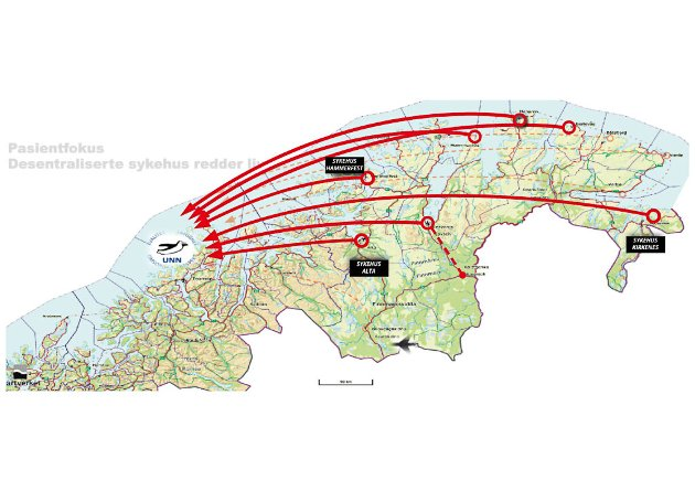 MÅLET: Med dette kartet forklarer 1. kandidaten til Pasientfokus, Irene Ojala, hva deres mål er