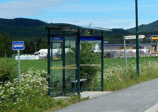 Busstopp Harestua, Lunner kommune