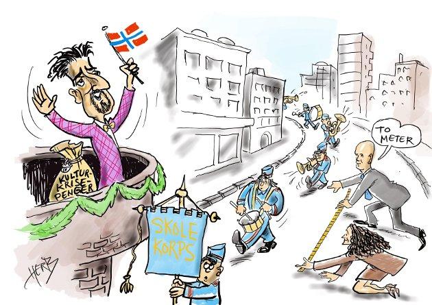 KRISEPAKKE: - Kulturministeren heier på korpsene, skriver Morten Skaarer i Korpsnett Norge, som har forventninger til krisepakke 2.