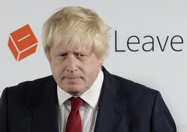 Brexit-general: Noen sjarlataner av uansvarlige politikere – anført av tidligere London-borgermester Boris Johnson (bildet) – har ledet folket ut i ulykken, ifølge Storedal, som påstår at politikernes fremste oppgave er å sørge for at folk har brød og smør på bordet.Foto: NTB Scanpix