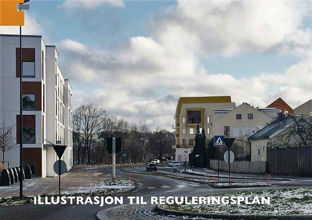 FRA NORD: Prosjektet i Havegaten sett fra rundkjøringen i Rambergveien.