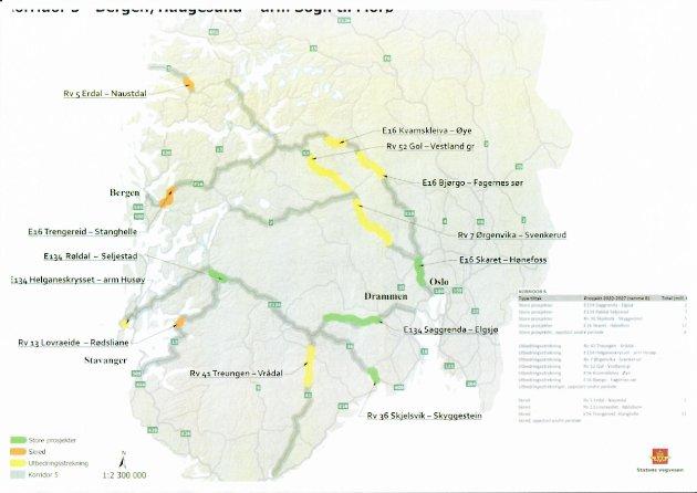 Statens vegvesen sine planar for fjellovergangar i NTP 2022-2033.