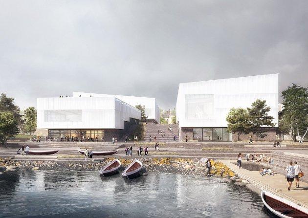 PRESTISJEBYGG: Det nye universitetsmuseet i Tromsø skal bli på nærmere 20.000 kvadratmeter, med plass til blant annet utstillinger, kontorer, laboratorier, auditorier, kafé. Prisen er nær to millarder kroner. Foto: Henning Larsen arkitekter