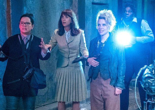 Tilbake i moderne drakt: «Ghostbusters», nå med kvinnelige hovedrolleinnehavere, er tilbake på kino.Foto: filmweb.no