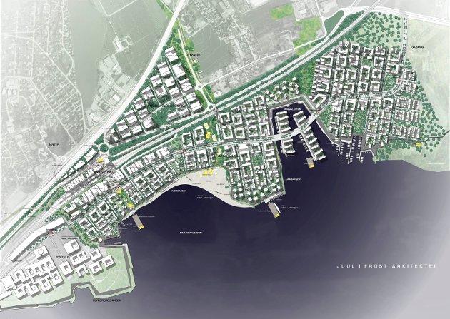 Tre arkitiektkontorer har kommet med forslag til hvordan Fjordbyen skal se ut.