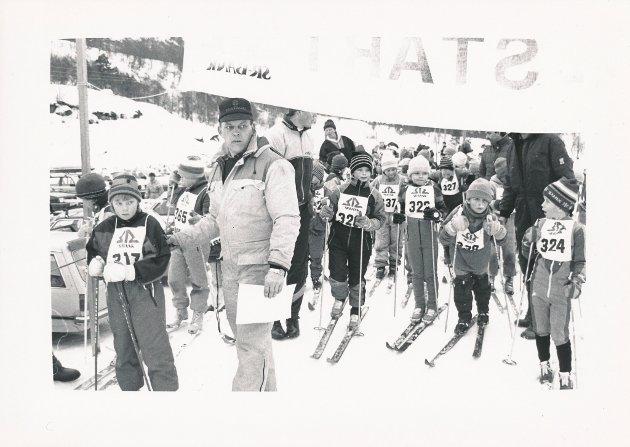 Skikarusellrenn i Suldal, mars 1991.
