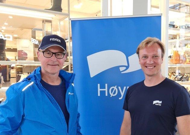 Odd Emil Ingebrigtsen (H), fiskeri- og sjømatminister og  Bård Ludvig Thorheim (H), 1. kandidat til Stortinget fra Nordland.