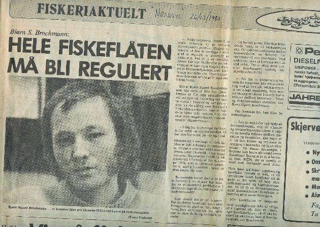Nordlys-intervju med daværende gjesteforsker Bjørn S. Brochmann ved Norges fiskerihøgskole i mars 1981.
