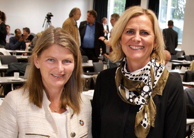 KVINNEDGEN: Ordfører Lene Conradi (t.v.) og varaordfører Monica Vee Bratlie markerer den internasjonale kvinnedagen med dette innlegget.