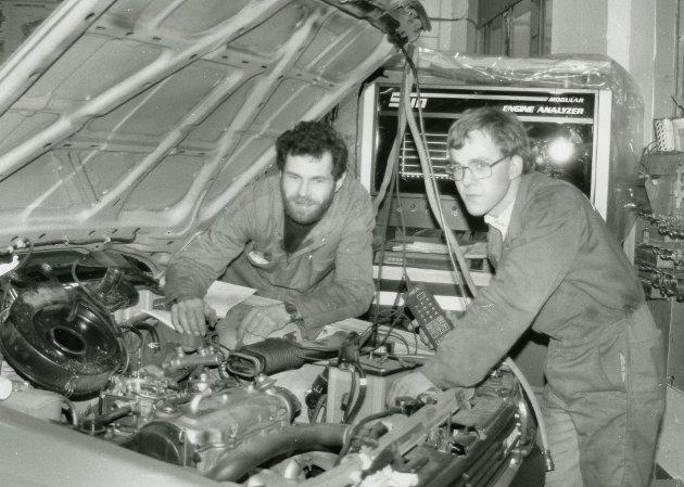 Janco bilrep. Jan Hopen og Jan Kjellevold i januar 1989