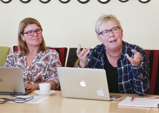 KLARE INNSPILL: Ragnhild Melleby Aslaksen og Wenche Pedersen i Vadsø Ap har gitt klare innspill ti Finnmark Ap hva gjelder kvotepolitikken.
