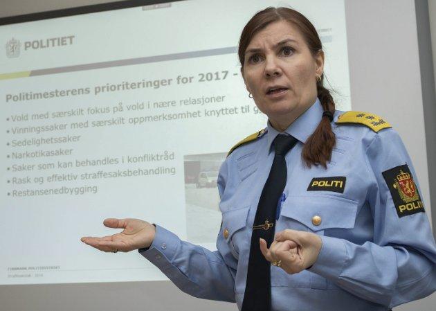LITE BEHOV: Ifølge politimester Ellen Katrine Hætta er det lite behov for politiscootere rundt om i fylket.