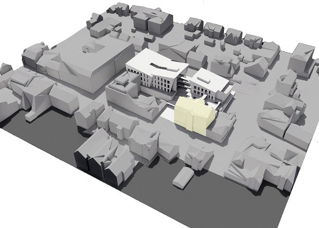 FEIL HUS, FEIL TOMT: Det meste er feil med planane for nytt rådhus i sentrum av Florø, meiner tidlegare byggmeister Ole Stenbakk.