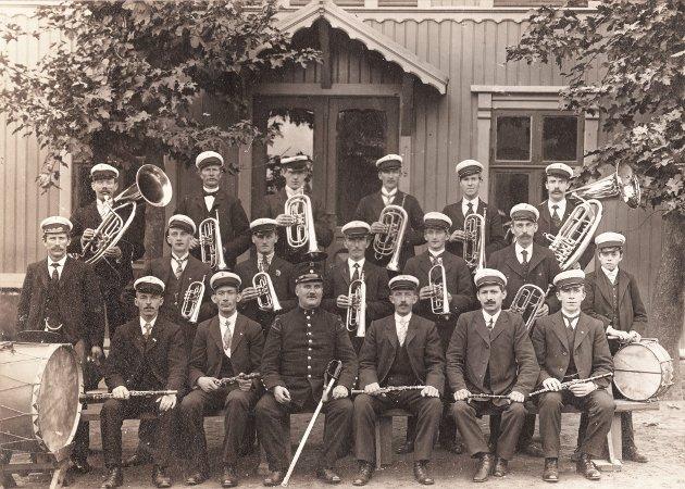 Forsats Korpset i 1912 utenfor Gymnastikken