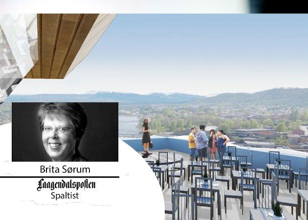 Brita Sørum skriver om Kongsbergs nye skybar i Dagens Brita.