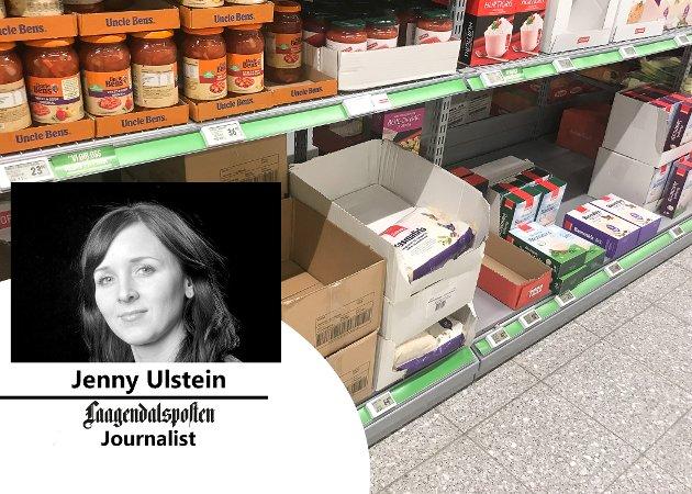 Hamsting: Bortsett fra en og annen «smørkrise» har nok de færreste av de i min generasjon opplevd å hamstre mat, eller redselen for at det blir tomt, skriver journalist Jenny Ulstein i denne kommentaren.