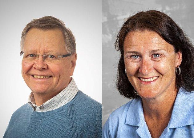 Ole Sverre Lund, listekandidat (H) og Lise Mandal, ordførerkandidat (H)