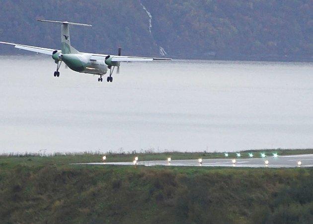 Arkivfoto fra Framneslia flyplass, noen måneder før den ble lagt ned 1. april 2017.
