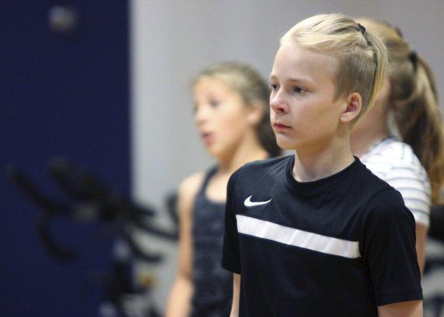 Eneste hanen i flokken: Eskil Johansen (12) var den eneste gutten som deltok på Victory Dance sitt sommerakademi.