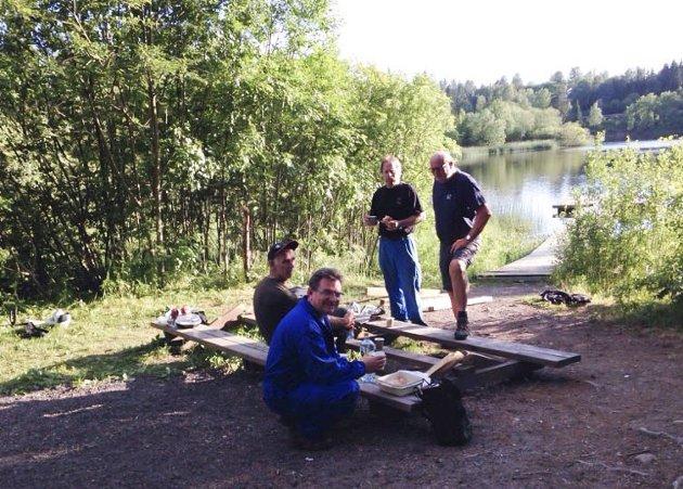 DUGNAD: Svein Gustavsen (fra venstre), Trond Linnestad, Egil Bekkeli og Bjørnar Granheim.