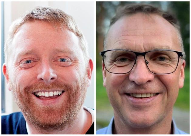 Sokneprest Jakob Furuseth og HEF-leder Rune Skjefstad i Gjerdrum ønsker å stå sammen i en eksistensiell krise