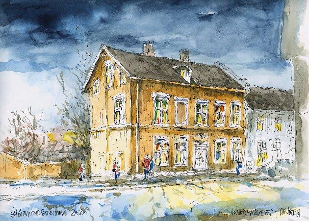 LANGS HOVEDVEIEN: Dagens utvalgte motiv er en vakker, men litt forsømt bygård i Fjæringen, skriver arkitekt Sigmund Sontum om huset i Farmannsveien.