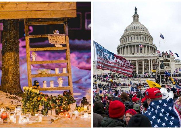 DRAMATISK: Tida rundt årsskiftet ble først preget av leirskredet i Gjerdrum, før vi onsdag denne uka fikk se uvirkelige bilder fra Capitol Hill i Washington DC.