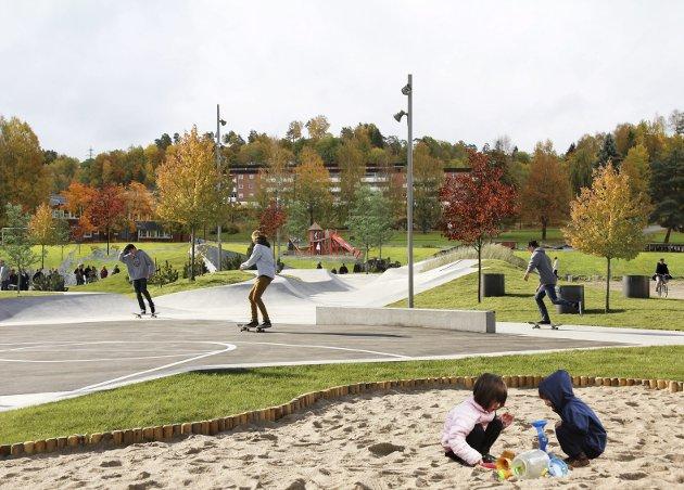 LIVSLØPSPARK: Kollasj av den planlagte parken. (Illustrasjon: Jelle Boone)