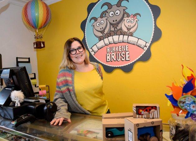 Marianne Storsveen i lekebutikken Bukkene Bruse.