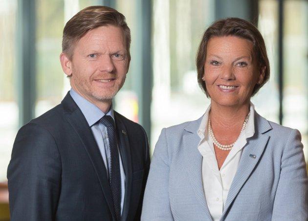 Tage Pettersen og Ingjerd Schou, stortingsrepresentanter for Østfold Høyre. (Foto: Høyre)