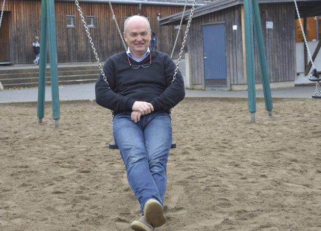 Vernombud på Gimle skole: Kjetil Aabø har vært lærer i over 30 år. Foto: Bjørn Ystrøm