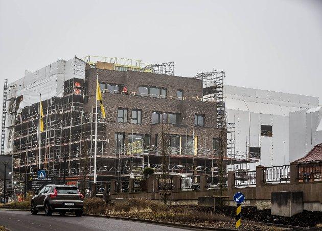 Ole H. Thoresen gir sin støtte til Tea Onsager, som forleden hadde et innlegg i SA om byutviklingen i Sarpsborg - der blant andre Kulås Hage, som reiser seg ved siden av byens rådhus, nevnes. Også Thoresen misliker mye av det som skjer på bygge- og fortettingsfronten i byen vår. (Foto: Vetle Granath Magelssen)