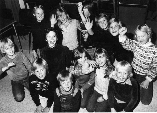 RUFFEN: I Velhuset i Sponvika var det aktivitet hver eneste kveld. De minste var på Ruffen og da barna passerte ti år avanserte de til juniorklubben. Bildet er tatt i 1980.