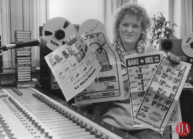 DØD: Heidi Andersen, her i Radio Halden i 1987, har gått bort.