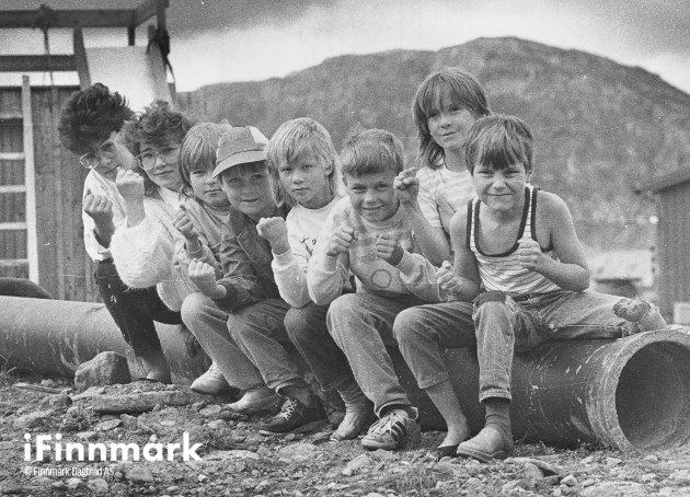 Lekeplassen i Blomsterveien. 15.08.1985.