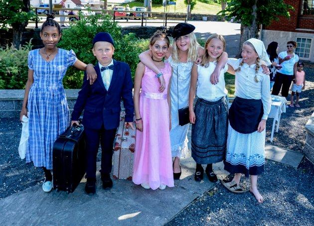Disse elevene fra Kragerø skole levendegjorde en tragisk hendelse fra 1886 - den stroe bybrannen
