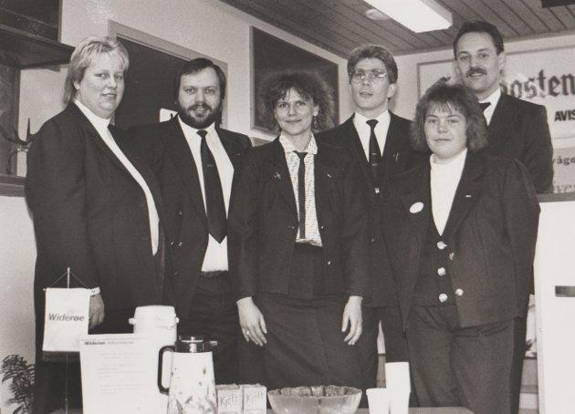 Widerøe-ansatte i 1990.