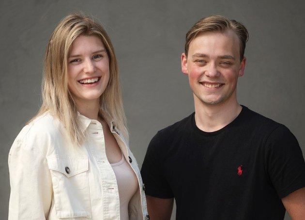 Martin Morken og Rebekka Steen, faglige ungdomssekretærer i LO Trøndelag.