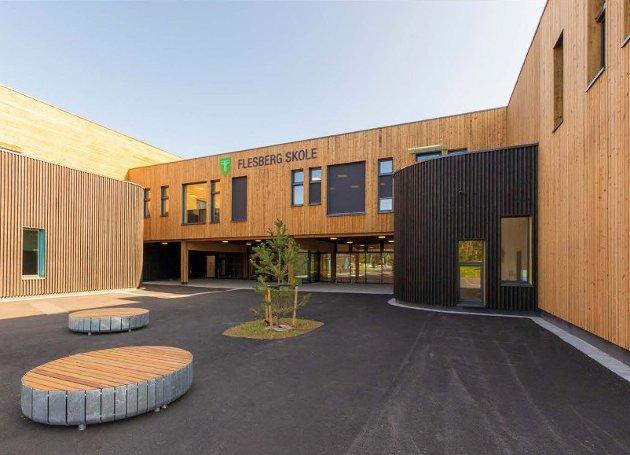 Flesberg skole i massivtre.