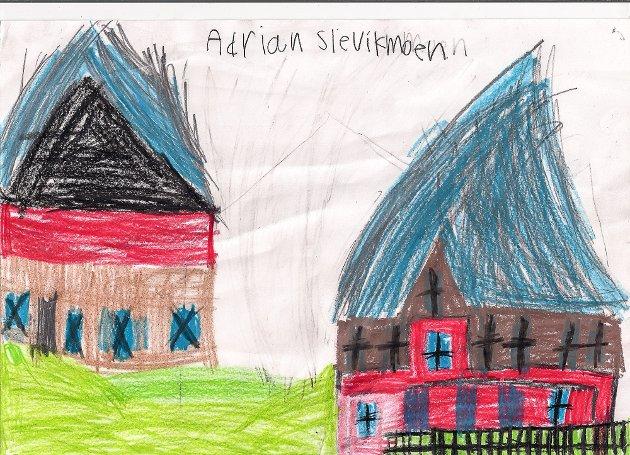 Tegninger fra Krøderen skole til RAW AIR i Vikersund 2017.