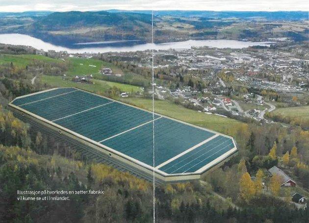 NY INDUSTRI: - SINTEF mener battericelleproduksjon kan gi 10.000 nye arbeidsplasser i Norge, mens analyseselskapet McKinsey har beregnet at verdiskapingspotensialet kan bli 400 milliarder kroner i året i 2050, skriver artikkelforfatterne.
